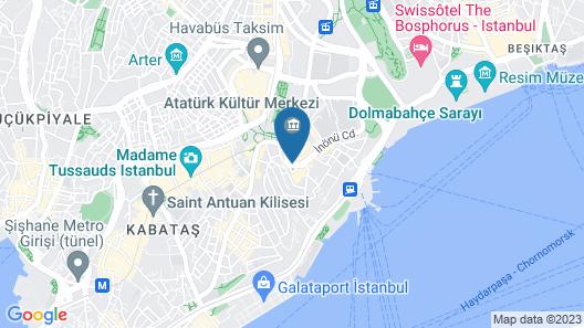 CVK Park Bosphorus Hotel Istanbul Map