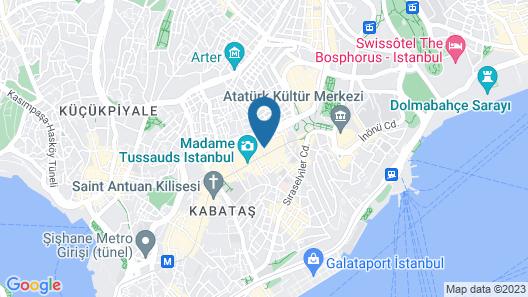 Panda Residence Deluxe Taksim Map