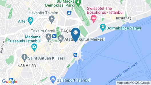 X Flats Taksim Map