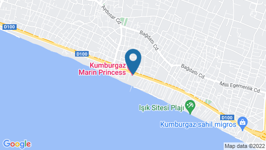 Kumburgaz Marin Princess Hotel Map