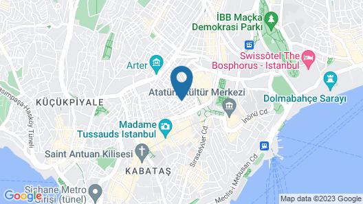 Taksim City Suites Map