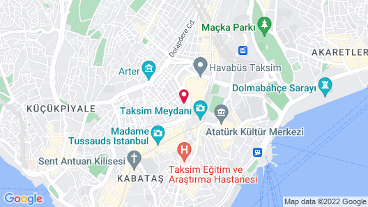 Aston Hotel Taksim Map