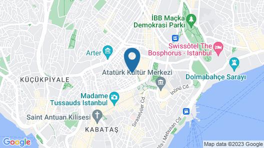 Q Pera Hotel Taksim Map