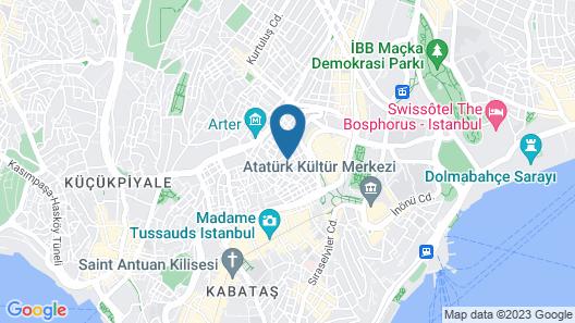 Pera Orient Suites Map