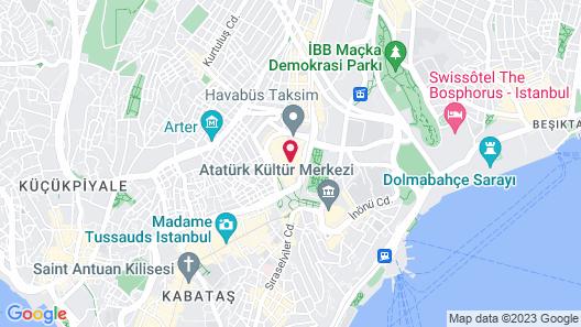 Nova Plaza Taksim Square Map
