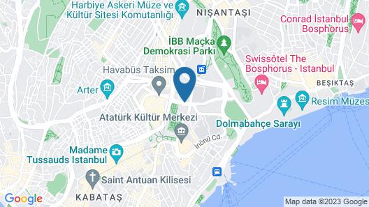 InterContinental Istanbul Map