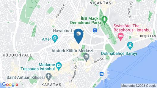 Point Hotel Taksim Map