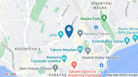 Taksim Wooden House Hostel Map