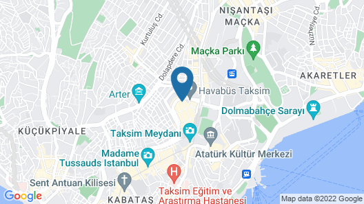 Titanic City Taksim Map