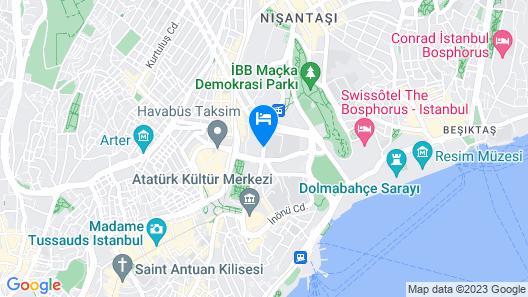 Grand Hyatt Istanbul Map