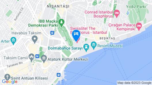 Swissotel The Bosphorus Istanbul Map