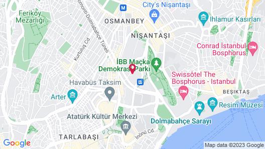 Hilton Istanbul Bosphorus Map