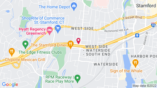 Super 8 by Wyndham Stamford/New York City Area Map
