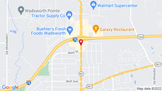 OYO Hotel Wadsworth OH I-76 Map