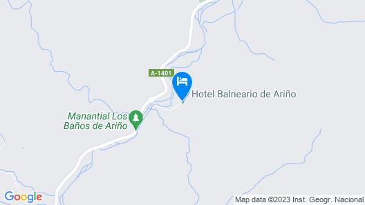 Balneario de Ariño Map
