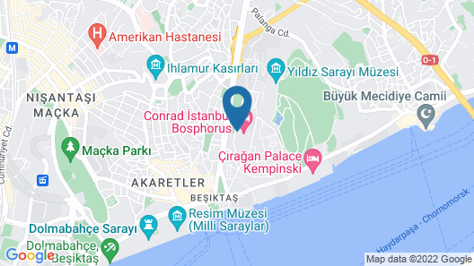 Conrad Istanbul Bosphorus Map