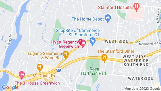 Hyatt Regency Greenwich Map