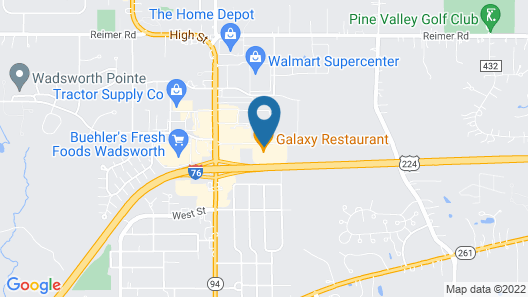Holiday Inn Express Hotel & Suites WADSWORTH, an IHG Hotel Map