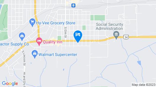Holiday Motel Creston Map