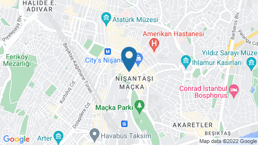 Glens Palas Istanbul Map