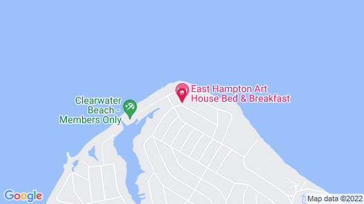 East Hampton Art House Bed & Breakfast Map