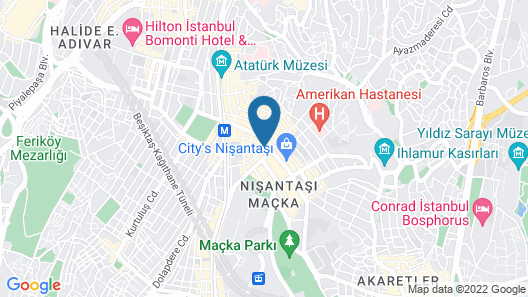 The Rooms Nisantasi  Map