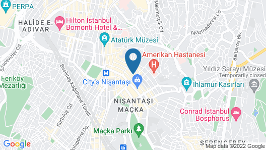 Vali Konak Hotel Map