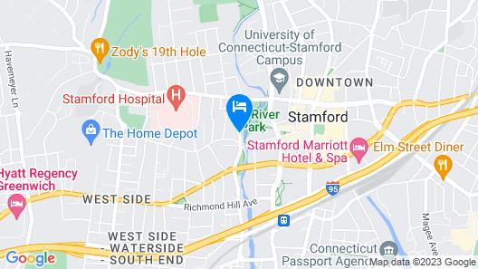 Hampton Inn & Suites Stamford Map