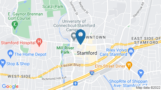 Courtyard by Marriott Stamford Downtown Map