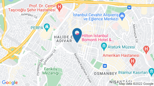 Hilton Istanbul Bomonti Hotel & Conference Center Map