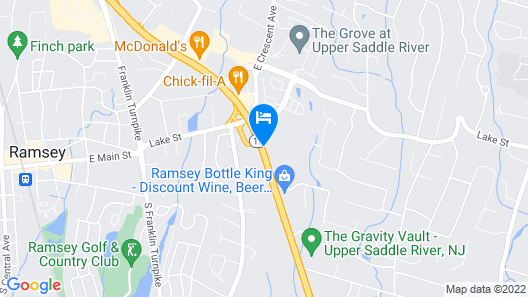 Extended Stay America Ramsey - Upper Saddle River Map