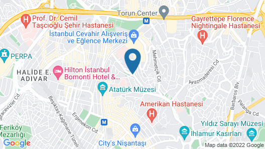 Hotel Bosfora Plus Map