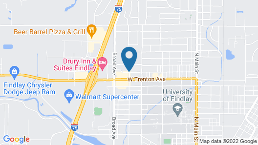 Red Roof Inn Findlay Map