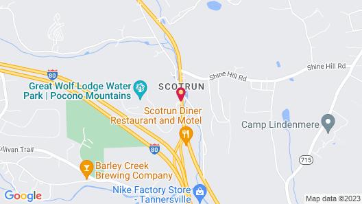Great Wolf Lodge Pocono Mountains, PA Map