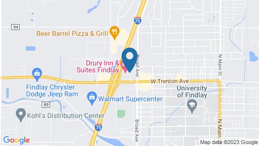 Drury Inn & Suites Findlay Map