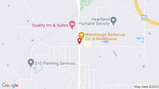 Super 8 by Wyndham Ottumwa Map