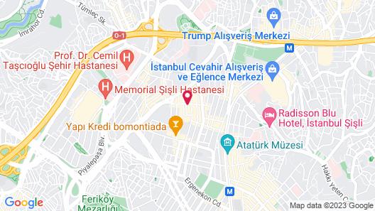 Febor İstanbul Bomonti Hotel & Spa Map