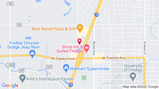Hampton Inn Findlay Map