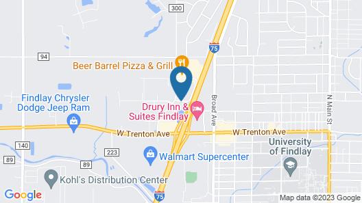 Hampton Inn Findlay Map