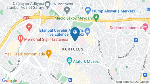 Radisson Blu Hotel, Istanbul Sisli Map