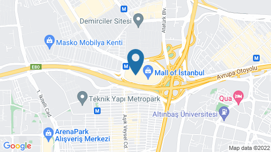 Hilton Mall of Istanbul Map