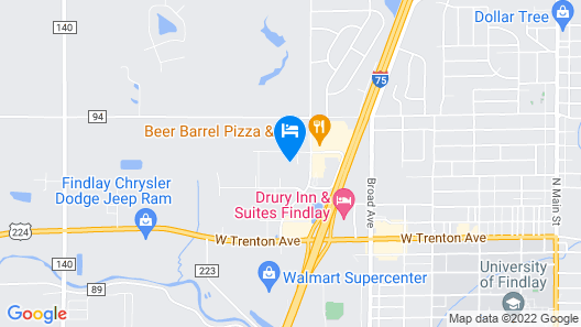 Holiday Inn Express & Suites Findlay North, an IHG Hotel Map