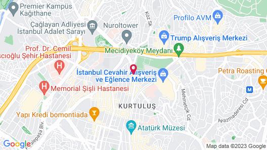 Istanbul Marriott Hotel Sisli Map