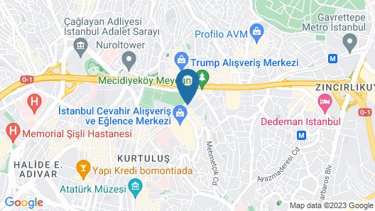 Grand Aras Hotel & Suites Map