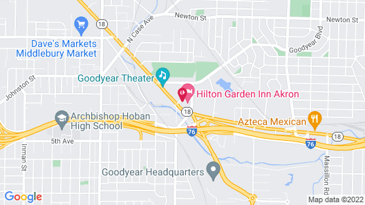 Hilton Garden Inn Akron Map