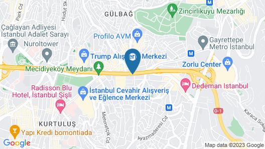 Fairmont Quasar Istanbul Map