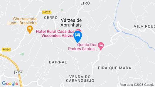 Hotel Rural Casa Viscondes Varzea Map