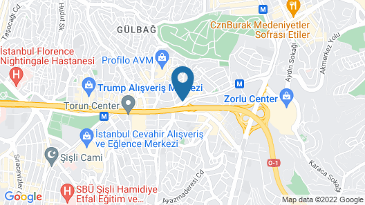 DoubleTree by Hilton Istanbul Esentepe Map