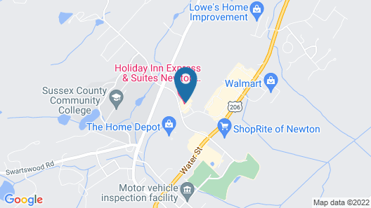 Holiday Inn Express and Suites Newton, an IHG Hotel Map