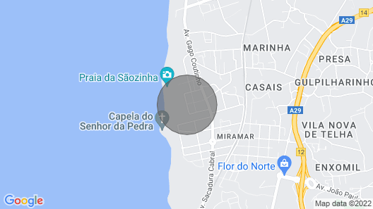 2 Bedroom Apartment in Front of the Beach of Miramar Map